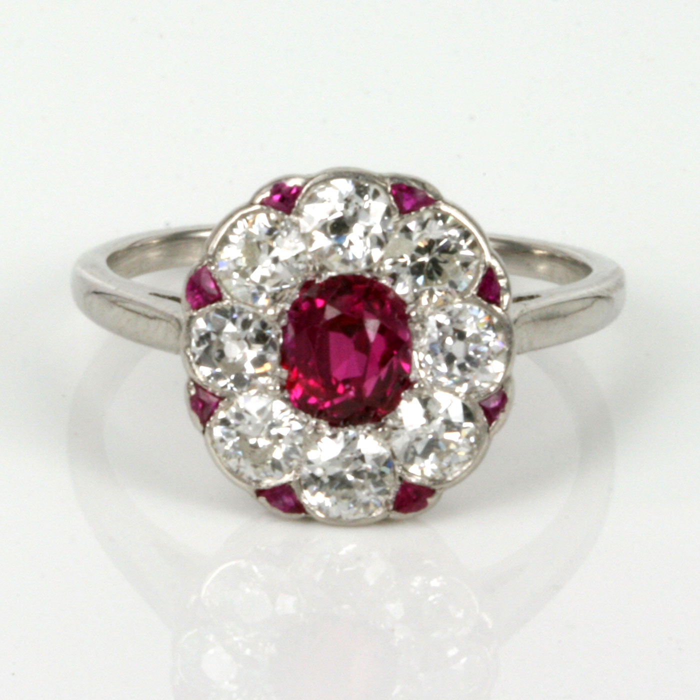 Antique Ruby And Diamond Engagement Rings