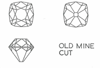 old mine cut diamonds
